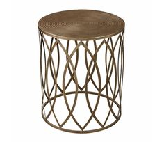 Gold Leaf Trellis Side Table-Home and Garden Design Ideas