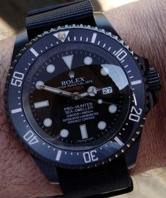 Pro-Hunter Military Single Red DeepSea Rolex Watch Available On James List