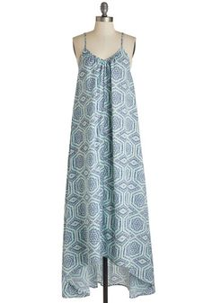 Wish Fulfillment Dress in Tile - Maxi   Mod Retro Vintage Dresses   ModCloth.com