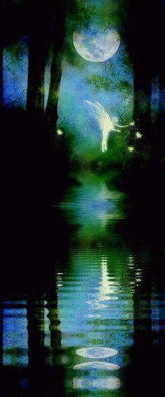 Full moon and fairy