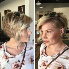 Asymmetrical Blonde Pixie For Thin Hair Edgy Haircuts, Bob Haircuts For Women, Round Face Haircuts, Best Short Haircuts, Hairstyles For Round Faces, Short Bob Hairstyles, Hairstyles With Bangs, Haircut Short, Hairstyle Short