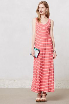 Scribble Stripe Maxi Dress #anthropologie