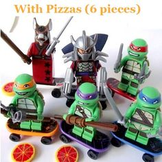 TMNT 6 Pcs Set Teenage Mutant Ninja Turtles Action Mini Figures Building Block Toy New Kids Gift Compatible With Lego-in Blocks from Toys & Hobbies on Aliexpress.com   Alibaba Group