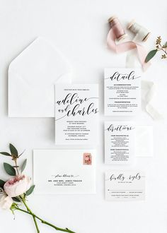 Wedding Invitations, Printable Wedding Invitations, Wedding Invitation DIY, Wedding Invitation Template, Wedding Stationery