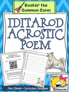 Iditarod Acrostic Poem.  FREE! This Acrostic Poem has a QR code and a web link to information about the Iditarod.  Students take key words and phrases to create the acrostic poem!  What a great freebie!  #rockinresources  #freebie  #iditarod #acrostic #writingthatrocks #march