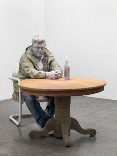 Ephemeral sculptures made of wax by Urs Fischer