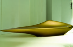 Zaha Hadid Architects | Scoop Sofa  A fluid form of curvilinear geometry, the Scoop is a continuation of the morphological design language Zaha Hadid has explored and developed over the past three decades.