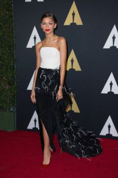 Zendaya attends the 6th Annual Governors Awards in The Ray Dolby Ballroom   See more photos here: http://www.redcarpetreporttv.com/2014/11/10/its-official-awards-season-has-started-the-academys-2014-governors-awards-honors-harry-belafonte-maureen-ohara-hayao-miyazaki-and-jean-claude-carriere-theacademy-governorsawards-photos/