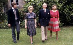 """At a meeting with Sir Michael - at the time a backbench rebel - in her office in Chelsea with her husband, Sir Denis present, she told him: """"If I had my time again, I wouldn't go into politics because of what it does to your family. Photo Pa, The Iron Lady, Margaret Thatcher, New Politics, Uk News, World Leaders, British History, No Time For Me, Family Photos"""
