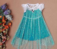 J736 Movies Frozen Snow Queen Elsa Cosplay Dress by angelssecret, $19.99