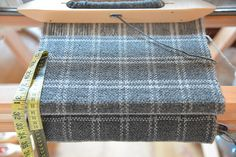 Handwoven mens wool scarf light and dark grey long scarf
