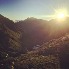 Beautiful sunrise in the mountains @CabaneDePrafleuri Switzerland Alps