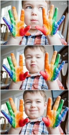 RAINBOW HANDPRINTS  - shared with the Kids Art Explorers project http://nurturestore.co.uk/category/creative-art/kids-art-explorers