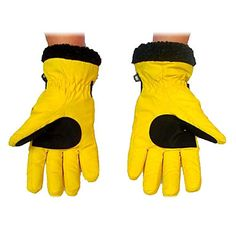 Women's Wind Protection Anti-skidding Yellow Skiing Gloves –