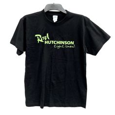 Rod Hutchinson T Shirt Tight Lines Size small Black with Green writing Fishing Click Photo, Boy Outfits, Fishing, Tights, Writing, Boys, Green, Clothing, Mens Tops