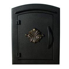 Qual Arc MAN-1401 Manchester Non-Locking Scroll Column Mount Mailbox