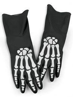 """Bone Dry"" Dishwashing Gloves by Fred & Friends #InkedMag #InkedShop #Bone #Dry #Gloves #Dish"