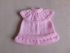 This sweet little dress is now in three premature baby sizes ~ small, medium and large Lazy Daisy All-in-One Baby Dresses ~ . Baby Dress Pattern Free, Baby Cardigan Knitting Pattern Free, Baby Dress Patterns, Doll Clothes Patterns, Baby Knitting Patterns, Free Knitting, Knitted Doll Patterns, Hat Patterns To Sew, Crochet Patterns