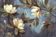 European Painting Magnolias Wallpaper Mural, Custom Sizes Available Mural Floral, Magnolia Wallpaper, Kunst Poster, European Paintings, Canvas Wall Art, Fine Art Prints, Poster Prints, Pastel, Decoration