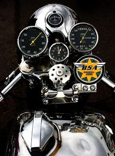 BSA front end sweet looking Cafe Racer instrument panel