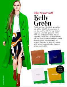How to wear green dress color combos Ideas Colour Combinations Fashion, Color Combinations For Clothes, Fashion Colours, Colorful Fashion, Color Combos, Color Schemes, Kelly Green Dresses, Stoff Design, Quoi Porter