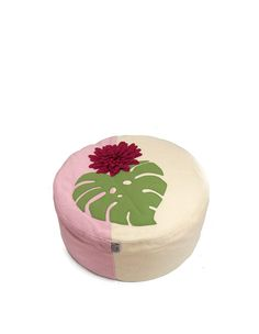 round floor pouf in the latest tropical trend irresistable room accessory Tropical Nursery Decor, Floor Pouf, Pillow Fight, Room Accessories, Poufs, Soft Furnishings, Bloom, Pillows, Design