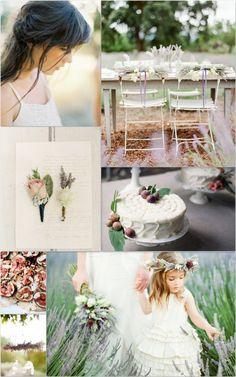 Beautiful lavender wedding.
