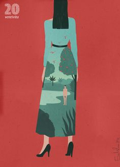 Posters to celebrate Vita' Magazine's  20th anniversary –  by Emiliano Ponzi