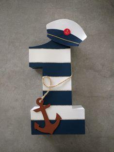 Numero uno (1) con temática náutico en cartón para cumpleaños Sailor Birthday, Happy Birthday Tag, 2nd Birthday Party Themes, Baby Boy 1st Birthday, 1st Boy Birthday, Sailor Theme, Nautical Party, Kids Party Decorations, Baby Boy Shower