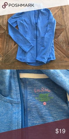 Lilly Pulitzer zip up Never worn, great top from their line of athletic wear. Lilly Pulitzer Tops Sweatshirts & Hoodies