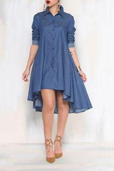 FASHION FORWARD  DRESS (Indigo blue Denim) from Kosmios