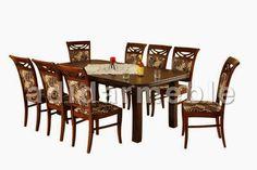 Zestaw do jadalni Adriano, stół + 8 krzeseł, meble Rychtal