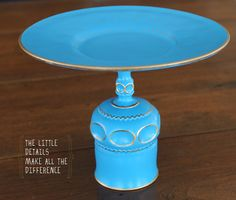 D.I.Y. Cake Stand. I already own a cake stand, but this one is easy to make and lovely!
