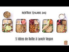 Repas de la Semaine Vegan/Boîtes à Lunch pour Ecole ou Boulot - YouTube