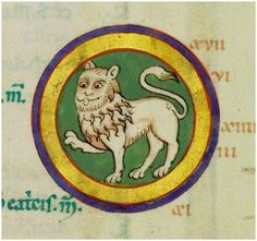 de/view/bvbmets/v… Old Paintings, Medieval Art, Illuminated Manuscript, Lions, Beast, Weird, Fox, Bible, Faces