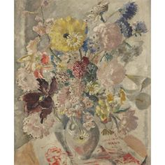 CATHLEEN S. MANN, (BRITISH 1896-1959), FLORAL STILL LIFE