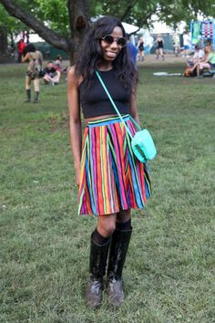 A look at what concert-goers wore to Governors Ball NYC Music Festival. Festival Chic, Festival Wear, Street Chic, Street Style, Governors Ball, Green Fields, Music Festivals, Summer Of Love, Everyday Fashion