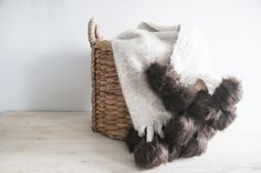 DIY Luxe Fur Pom Throw