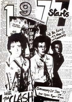 On New Year's Day 1977 The Clash supported by #Chelsea and Sounds played the Roxy Club in London's Covent Garden. Gothabilly, Gabba Gabba, The Clash, Punk Rock, Roxy, Covent Garden, Steam Punk, Chelsea, Club