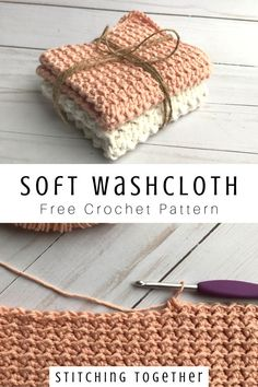 Easy Crochet Washcloth Crochet Stricken , Crochet Washcloth You'll love making these soft crochet washcloths for your home! With amazing texture and fun stitches, they'll not only look good bu. Crochet Simple, Crochet Diy, Crochet Home, Crochet Gifts, Crochet Stitch, Crochet Owls, Crochet Animals, Things To Crochet, Ravelry Crochet