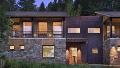 Ward Blake Architects; Martin-Pacifico Residence (New Construction); Jackson, Wyoming, 2008.