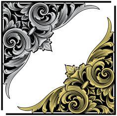 Arabesque Corner Engraving Royalty Free Stock Vector Art Illustration