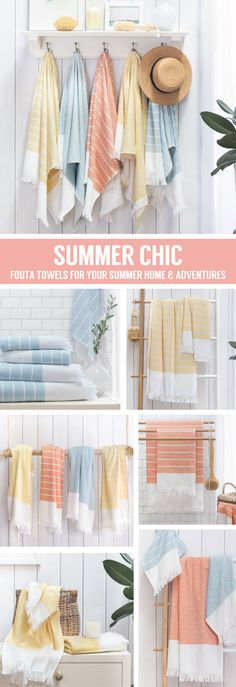Lightweight and quick-drying, fouta towels are the perfect addition to your Summer home and sun-kissed adventures. Named the best site for home decor by HGTV.