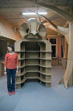 Owl Shelves Cardboard Furniture Collection Art Design