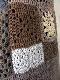 Onpas kertynyt kokeiluja!          Sommittelin ne...         ...kokonaisuudeksi.          Vain hihoihin virkkasin uutta.           P... Crochet Coat, Crochet Jacket, Crochet Granny, Boho Crochet Patterns, Blanket, Pullover, Blog, Inspiration, Vest Coat