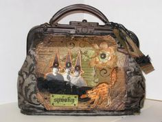 My witchy hag bag, an altered antique doctors bag. By Thespoena