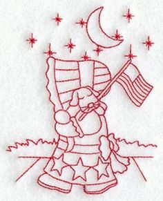 Patriotic Sunbonnet Sue  Sunbonnet Sue's by StartingStitches, $3.00