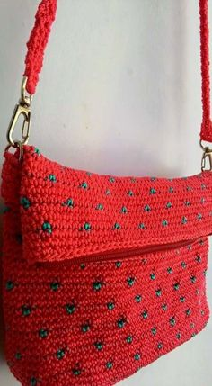 Spotted bag - Crochet creation by Farida Cahyaning Ati