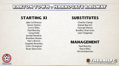 Harrogate Railway's team for today's game at Barton Town    @therailfc