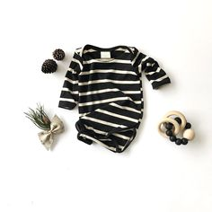 Bamboo Striped Onesie